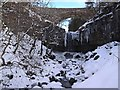 NY7540 : Ashgill Force in winter by Oliver Dixon