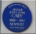 Photo of Arthur Joyce Lunel Cary blue plaque