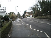 SU9948 : Approaching the junction of Portsmouth Road and Hitherbury Close by Basher Eyre