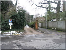SU9948 : Looking from Flower Walk towards the alley leading to Portsmouth Road by Basher Eyre