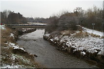 SJ5990 : Sankey Brook, looking North from Cromwell Avenue by David Long