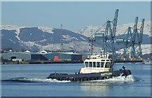 NS2876 : Tug Battler off Greenock by Thomas Nugent