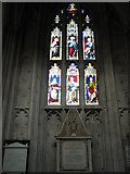 SU4829 : Stained glass window above the pulpit at Winchester Cathedral by Basher Eyre