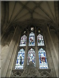 SU4829 : Delightful stained glass window on the north wall of Winchester Cathedral by Basher Eyre