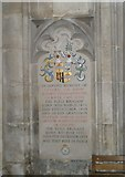 SU4829 : Memorial to a grandfather and his grandson on the north wall at Winchester Cathedral by Basher Eyre
