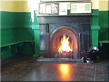 TQ3729 : Waiting Room Fireplace at Horsted Keynes Station by Peter Trimming