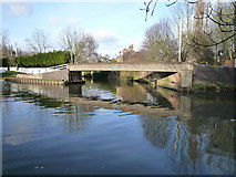 TQ1579 : Grand Union Canal at the confluence with the River Brent by J Taylor