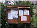 TM4274 : St.Peter's Church, Thorington Notice Board by Adrian Cable