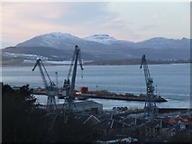 NS3075 : Inchgreen dry dock and the Great Harbour by Thomas Nugent