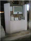 SU3521 : Display case opposite the south transept at Romsey Abbey by Basher Eyre
