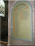 SU3521 : The incumbency board at Romsey Abbey by Basher Eyre
