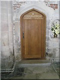 SU3521 : Memorial door in the south transept at Romsey Abbey by Basher Eyre