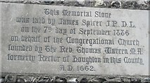 SU3521 : Memorial stone outside Romsey URC by Basher Eyre