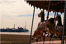 TQ3103 : Brighton Pier behind the carousel by MJ Reilly