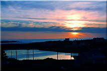 B8130 : Glassagh - Sunset seen from Teac Jack's Hotel room by Joseph Mischyshyn
