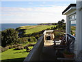 SW8836 : Driftwood Hotel - view to the south from the terrace by Ian Cunliffe