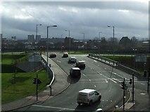 NS5566 : New road bridge at Partick by Thomas Nugent
