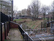 SP3278 : River Sherbourne junk trap by E Gammie