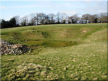 ST2214 : Earthworks, at Church Farm, Otterford by Roger Cornfoot