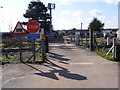 TM2141 : Level Crossing  off Felixstowe Road by Adrian Cable