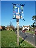 TQ6557 : Offham Village Sign by David Anstiss