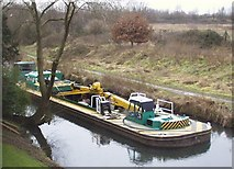 SK5802 : Barge on the Grand Union Canal by Mat Fascione