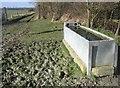 TL4258 : A full water trough by Sandy B