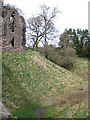 SO4024 : Ditch at Grosmont Castle by Pauline E