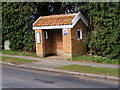 TM3963 : Bus Shelter on B1119 Church Hill, Saxmundham by Adrian Cable