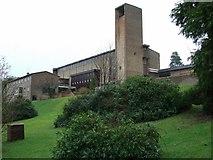 NS3473 : Holy family RC Church & parochial house by Thomas Nugent
