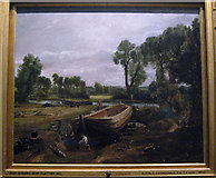 """TQ2779 : Constable's """"Boat Building near Flatford Mill"""" by Zorba the Geek"""