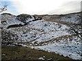 SD5594 : Ruined dyke, Hay Fell by Richard Webb