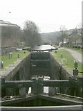SD9322 : Travis Mill Lock No 28 - Rochdale Canal - St Peter's Gate by Betty Longbottom