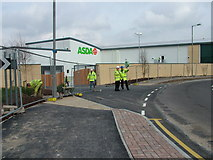 TL8364 : Bury St. Edmunds Asda delivery entrance by John Goldsmith