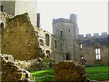 TQ7825 : Inside Bodiam Castle by Wesley Trevor Johnston