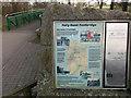 SK3538 : Folly Road Footbridge - Information by David Lally