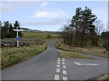 NU0011 : Road junction between Alnham and Prendwick by Andrew Curtis