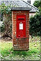 SW8141 : George vi post box at Playing Place by Fred James