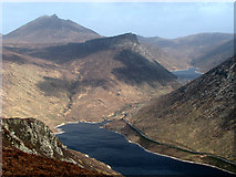 J2923 : Silent Valley and Ben Crom from Slievenaglogh by Rossographer
