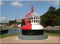 SX9291 : Exeter Quay: Marker Buoy landmark by Brian