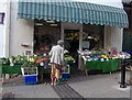 SX9165 : Greengrocer, St Marychurch precinct. by Joan Vaughan