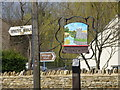 TL0394 : Village sign, Woodnewton by Michael Trolove