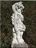 TQ1352 : Statue in the Rose Garden, Polesden Lacey by Chris Reynolds