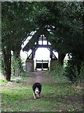SP9113 : Lych Gate and Yew Tunnel, Wilstone Cemetery by Chris Reynolds