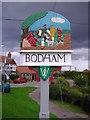 TG1240 : Bodham village sign by Mark Hobbs