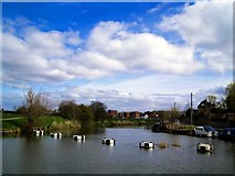 SO8832 : Tewkesbury river view by andy dolman