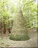 NZ2253 : Pyramid in Edenhill Plantation near Beamish by John Bedlington