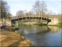 SU9948 : Bridge carrying the North Downs Way footpath over the River Wey by Nick Smith