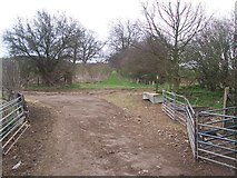 TQ9258 : Footpath junction near Old Rectory by David Anstiss
