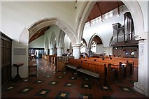 TQ4655 : St Martin's Church, Brasted, Kent - Interior by John Salmon